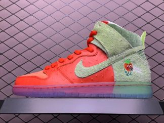 2021 Nike SB Dunk High Strawberry Cough Shoes CW7093-600