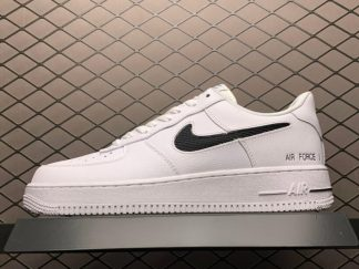 Nike Air Force 1 Low Cut Out Swoosh White Black For Sale CZ7377-100