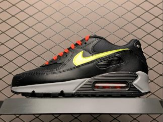 2020 Nike Air Max 90 NYC Black Green Grey For Sale CW1408-001