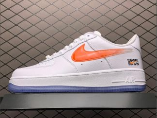 Kith x Nike Air Force 1 Low NYC Home In White Orange CZ7928-100