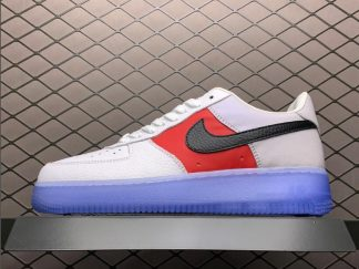 Nike Air Force 1 Low EMB White Red Black With Icy Outsoles CT2295-110