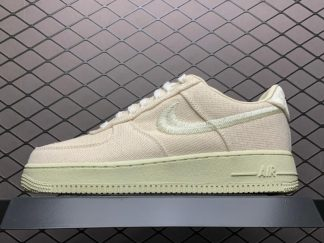 Stussy x Nike Air Force 1 Fossil Stone On Sale CZ9084-002
