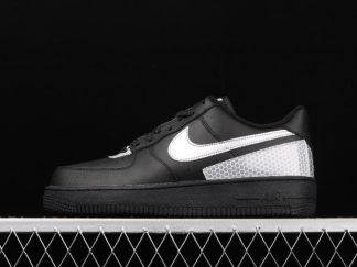 Men and Womens Nike Air Force 1 Low 3M Black Silver CT2299-001