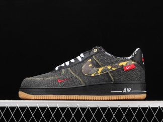 Nike Air Force 1 Low Remix Black White Multi-Color Sneakers DB1964-001