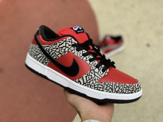 Supreme x Nike SB Dunk Low Red Cement Cheap Sale 313170-600