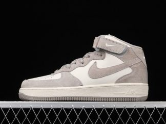 2021 Nike Air Force 1 07 Mid Beige Grey Training Shoes CQ3866-015