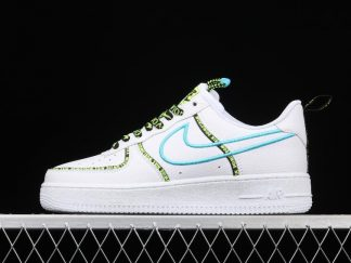 Buy Nike Air Force 1 Low Worldwide White Blue Fury Volt CK7213-100