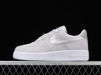 Discount Nike Air Force 1 07 Grey Gold Lifestyle Shoes DC4458-001