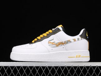 Men and Women's Nike Air Force 1 Low Gold Link Zebra DH5284-100