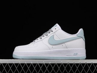 Nike Air Force 1 07 Low White Ice Blue For Cheap AQ2566-201