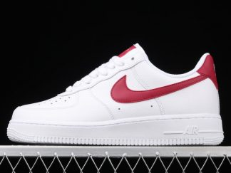 WMNS Nike Air Force 1 '07 White Noble Red Training Shoes 315115-154