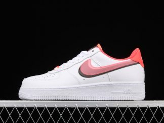 Nike Air Force 1 Low GS Double Swoosh White Bright Crimson CW1574-101
