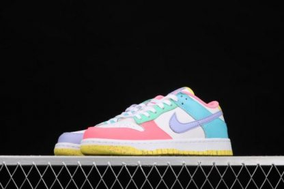2021 Latest DD1872-100 Nike SB Dunk Low SE Candy White Green Glow Sunset Pulse On Sale-4
