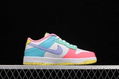 2021 Latest DD1872-100 Nike SB Dunk Low SE Candy White Green Glow Sunset Pulse On Sale-1