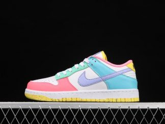 2021 Latest DD1872-100 Nike SB Dunk Low SE Candy White Green Glow Sunset Pulse On Sale