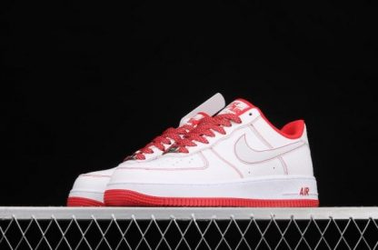 2021 Latest Release CN2896-101 Nike Air Force 1 07 SU19 White Red Sport Shoes-2