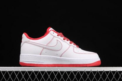 2021 Latest Release CN2896-101 Nike Air Force 1 07 SU19 White Red Sport Shoes-1