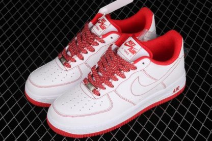 2021 Latest Release CN2896-101 Nike Air Force 1 07 SU19 White Red Sport Shoes-3