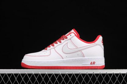 2021 Latest Release CN2896-101 Nike Air Force 1 07 SU19 White Red Sport Shoes