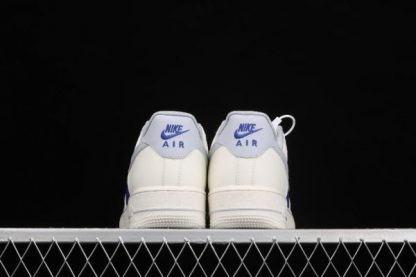 2021 New Arrival AQ3778-988 Nike Air Force 1 07 Milk White Wolf Grey Royal Blue Shoes-3
