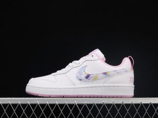 2021 New CK5426-100 Nike Court Borough Low 2 GS White Pink Shoes