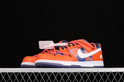 2021 New DD0856-801 Nike Dunk Low LTHR OW Orange White Sneakers For Sale-1