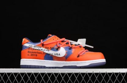 2021 New DD0856-801 Nike Dunk Low LTHR OW Orange White Sneakers For Sale-4