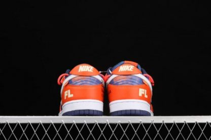 2021 New DD0856-801 Nike Dunk Low LTHR OW Orange White Sneakers For Sale-3