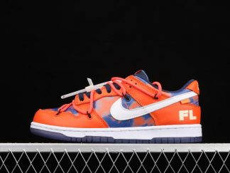 2021 New DD0856-801 Nike Dunk Low LTHR OW Orange White Sneakers For Sale