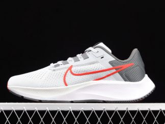 2021 New Nike Air Zoom Pegasus 38 Pure Platinum/Wolf Grey/Iron Grey/Chile Red CW7356-004