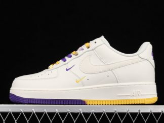 2021 Buy Cheap Classic CT1989-106 Air Force 1 07 Low SU19 White/Yellow-Purple