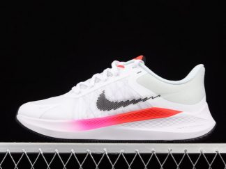 2021 Buy Cheap Classic CW3419-100 Nike Zoom Winflo 8 White Pink Orange For Sale