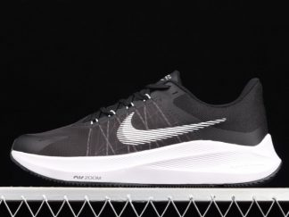 2021 Sell Newest Cheap CW3419-006 Nike Air Zoom Winflo 8 Black/White For Sale