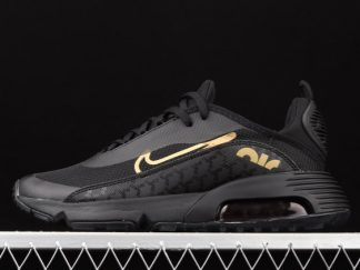 2021 Sell Newest Cheap DC4120-001 Nike Air Max 2090 Black Metallic Gold For Sale