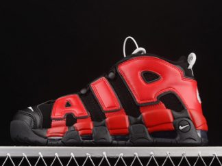 2021 Latest Release Nike Air More Uptempo Black Red Navy DM0017-001