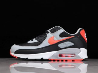 2021 New Arrival CZ4222-001 Nike Air Max 90 Black/Radiant Red-White-Wolf Grey