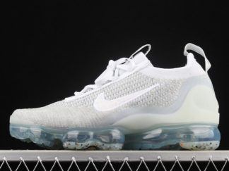 New Arrival DC4112-100 Nike Vapormax Flyknit 2021 White Pure Platinum