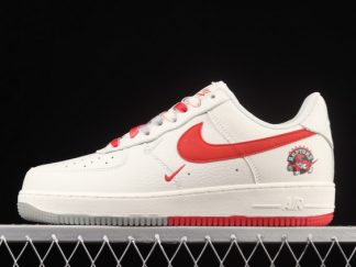 2021 Brand New CH2608-216 Nike Air Force 1 07 Low Beige Silver Grey Red