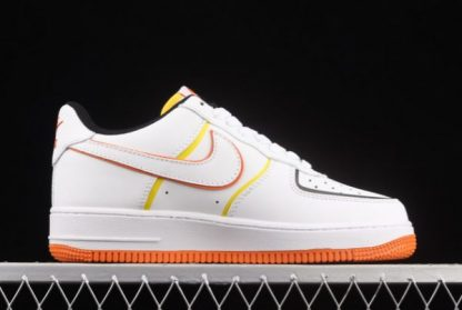 2021 Discount 315122-185 Nike Air Force 1 Low '07 White/Blue-Yellow Cheap Online-1