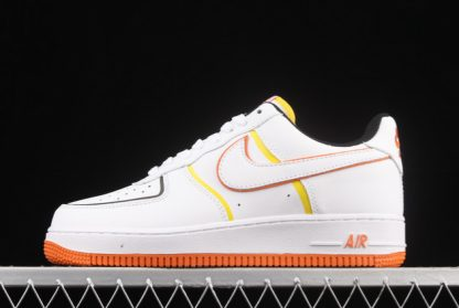 2021 Discount 315122-185 Nike Air Force 1 Low '07 White/Blue-Yellow Cheap Online