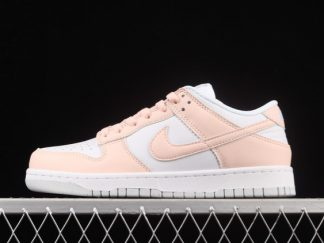 2021 Latest Release DD1873-100 Wmns Nike Dunk Low White Pink Move To Zero Shoes