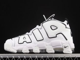 2021 Latest Release DD6718-100 Nike Air More Uptempo 96 QS White Black For Sale