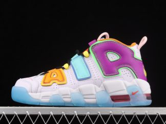 2021 Latest Release DH0624-500 Nike Air More Uptempo GS Multi-Color