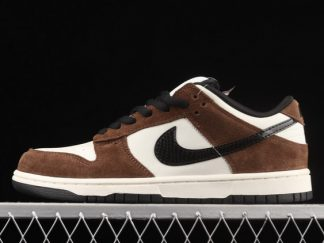 2021 New Arrival 304292-102 Nike SB Dunk Low White Black Trail End Brown For Sale