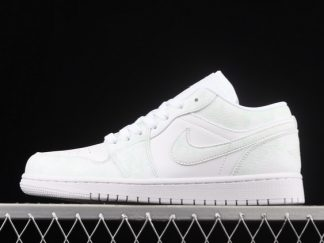 2021 New Arrival 553558-130 Air Jordan 1 Low Triple White Tumbled Leather For Sale