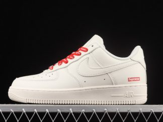 2021 New Arrival CU9225-126 Nike Air Force 1 White Red For Sale