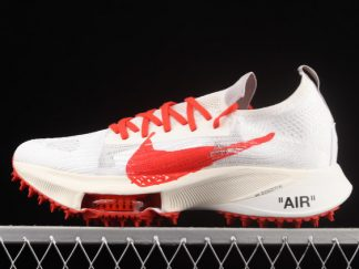 2021 New Arrival CV0697-002 Off-White x Nike Air Zoom Tempo Next% White Gym Red For Sale