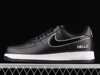 2021 New Arrival CZ0327-001 Nike Air Force 1 Low Hello Black White For Sale