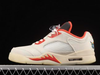 2021 New Arrival DD2240-100 Air Jordan 5 Low Chinese New Year For Sale