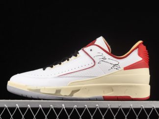 2021 New Arrival DJ4375-106 Off-White x Air Jordan 2 Low White Red For Sale